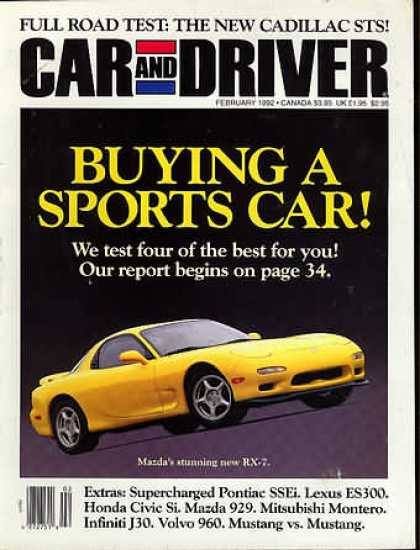 Car and Driver - February 1992