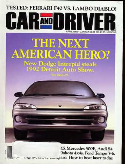 Car and Driver - April 1992