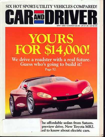 Car and Driver - May 1992