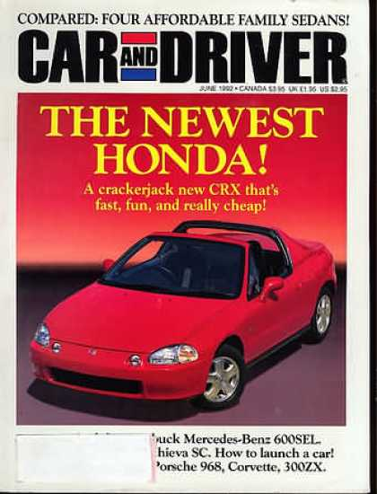 Car and Driver - June 1992