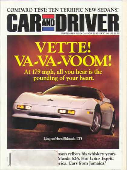 Car and Driver - September 1992