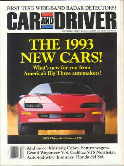 Car and Driver - October 1992