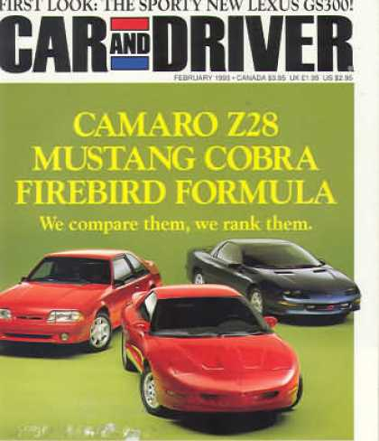 Car and Driver - February 1993