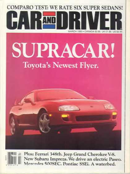 Car and Driver - March 1993