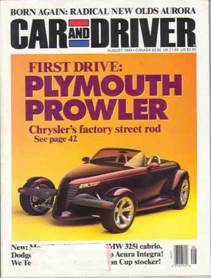Car and Driver - August 1993