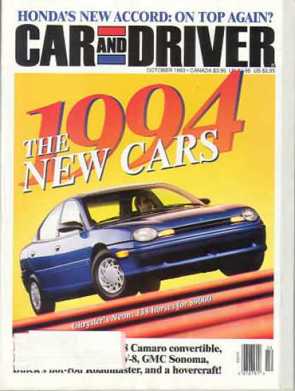 Car and Driver - October 1993
