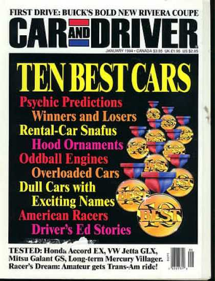 Car and Driver - January 1994