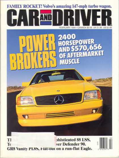Car and Driver - February 1994