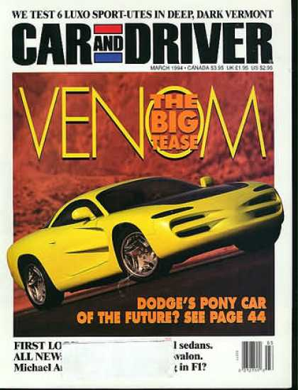 Car and Driver - March 1994