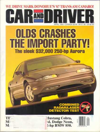 Car and Driver - April 1994