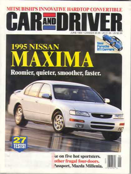 Car and Driver - June 1994