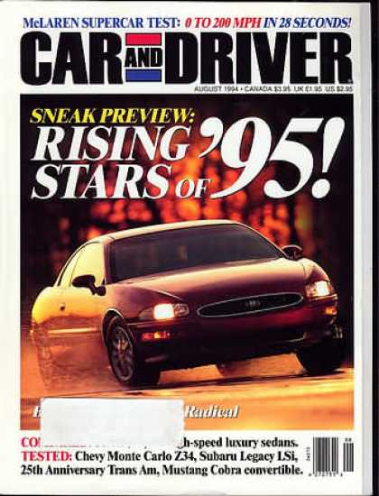Car and Driver - August 1994
