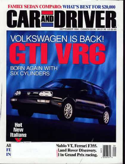 Car and Driver - September 1994