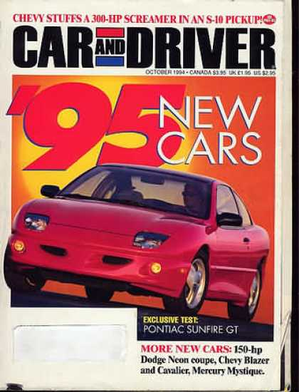 Car and Driver - October 1994