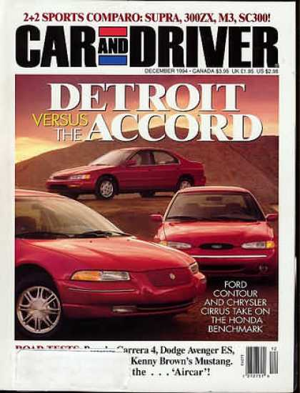 Car and Driver - December 1994