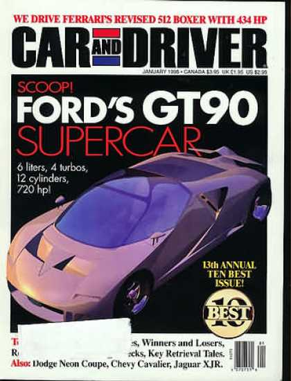 Car and Driver - January 1995
