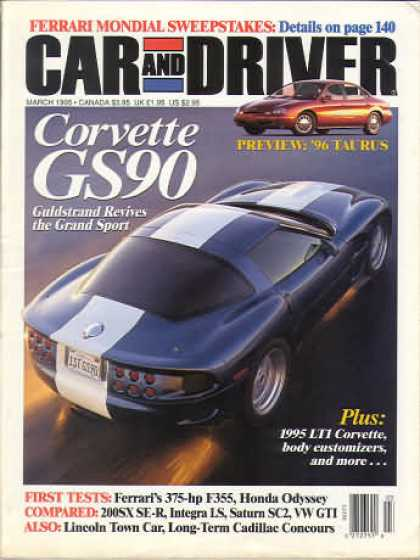 Car and Driver - March 1995