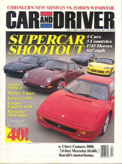 Car and Driver - July 1995