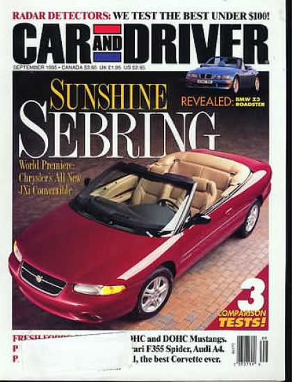 Car and Driver - September 1995