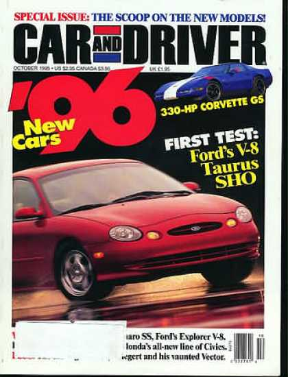 Car and Driver - October 1995