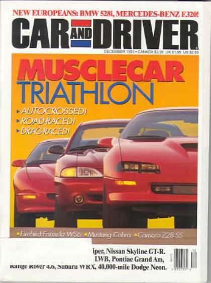 Car and Driver - December 1995