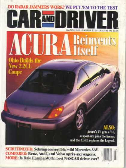 Car and Driver - March 1996