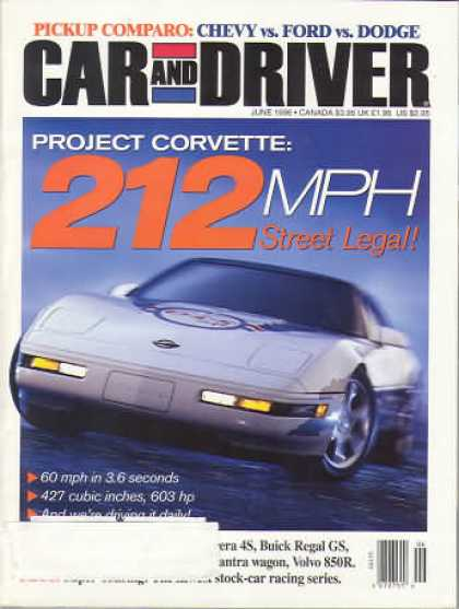 Car and Driver - June 1996