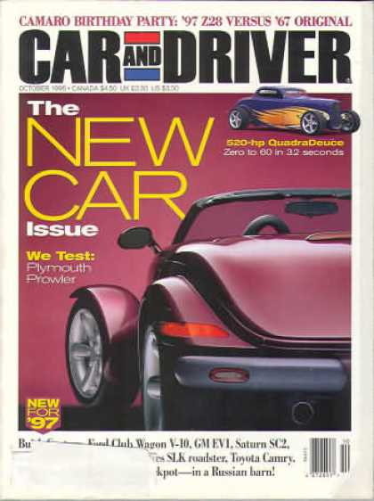 Car and Driver - October 1996
