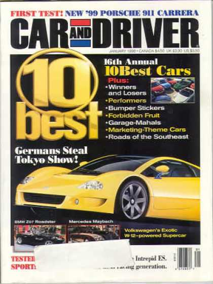 Car and Driver - January 1998