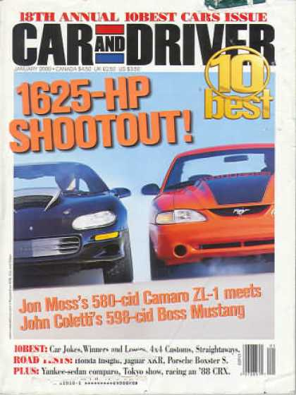 Car and Driver - January 2000