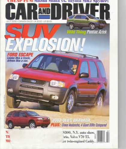 Car and Driver - July 2000