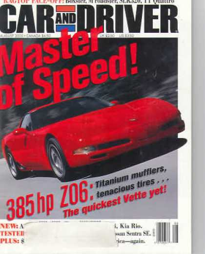 Car and Driver - August 2000