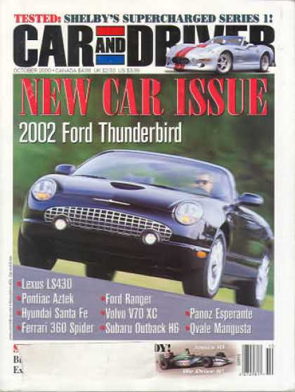 Car and Driver - October 2000
