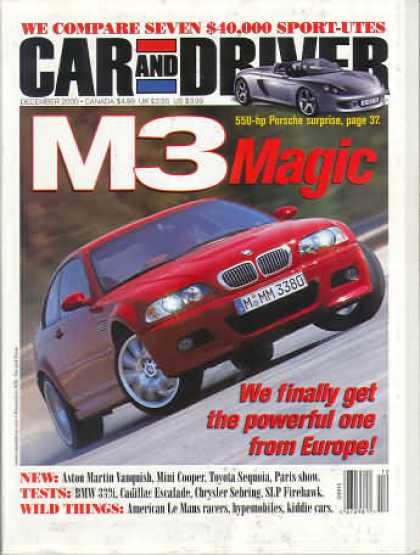 Car and Driver - December 2000