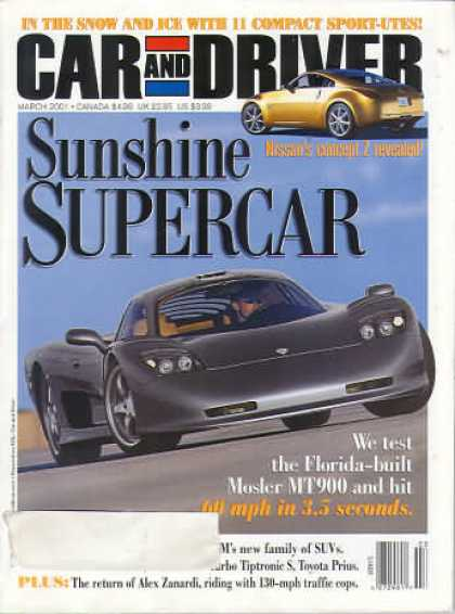 Car and Driver - March 2001