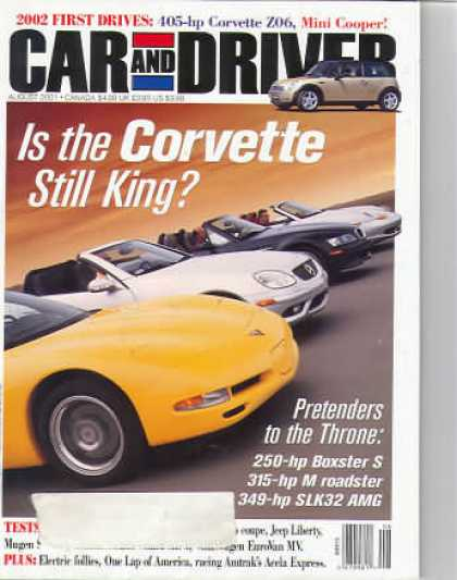 Car and Driver - August 2001