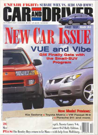 Car and Driver - October 2001