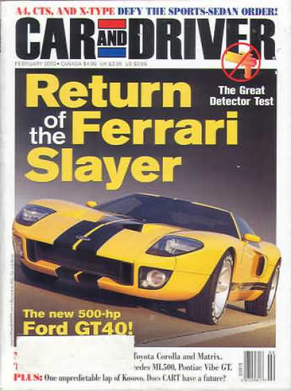 Car and Driver - February 2002