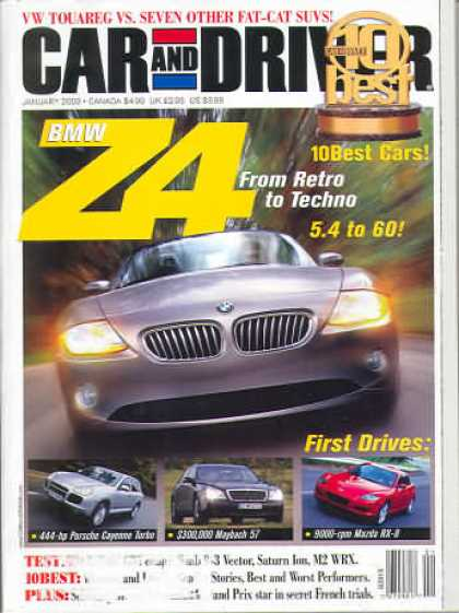 Car and Driver - January 2003