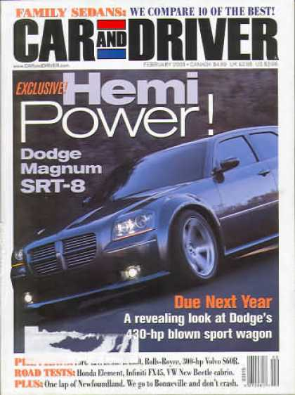 Car and Driver - February 2003