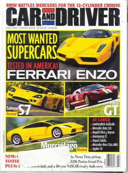 Car and Driver - July 2003
