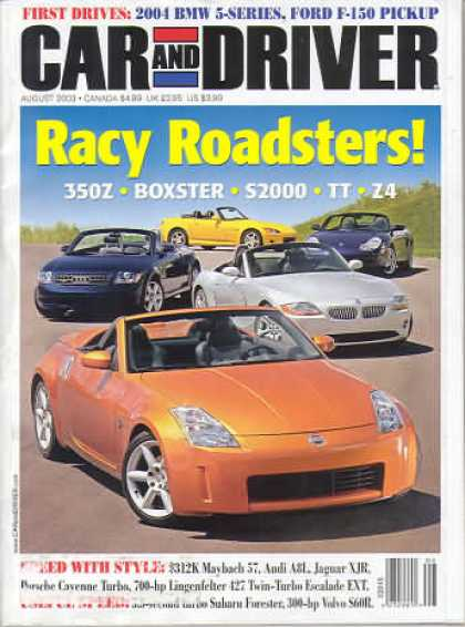 Car and Driver - August 2003