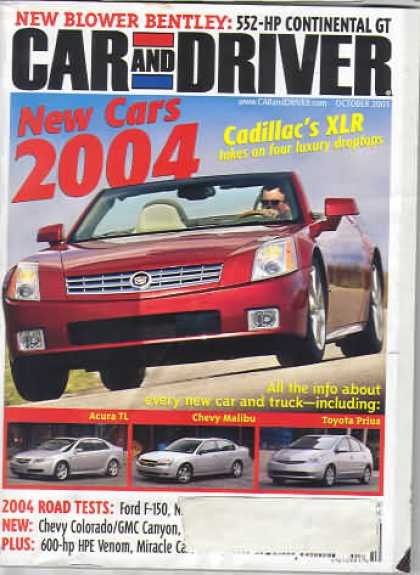 Car and Driver - October 2003