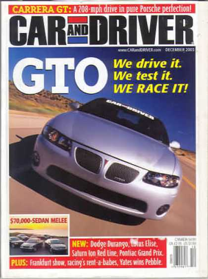Car and Driver - December 2003