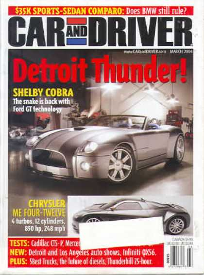 Car and Driver - March 2004