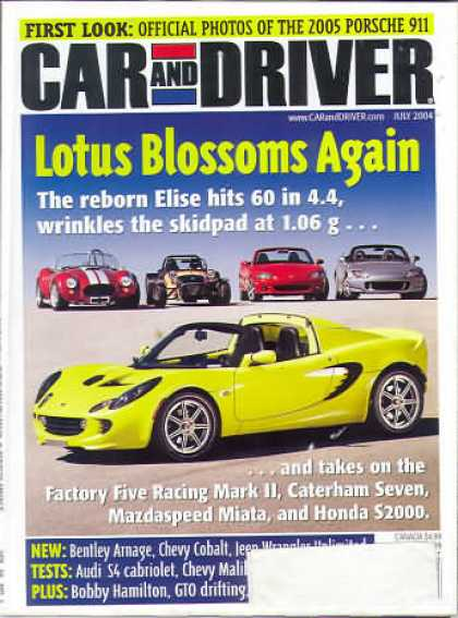 Car and Driver - July 2004
