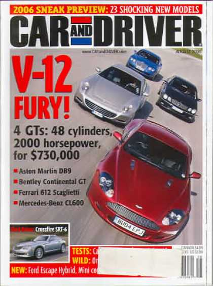 Car and Driver - August 2004
