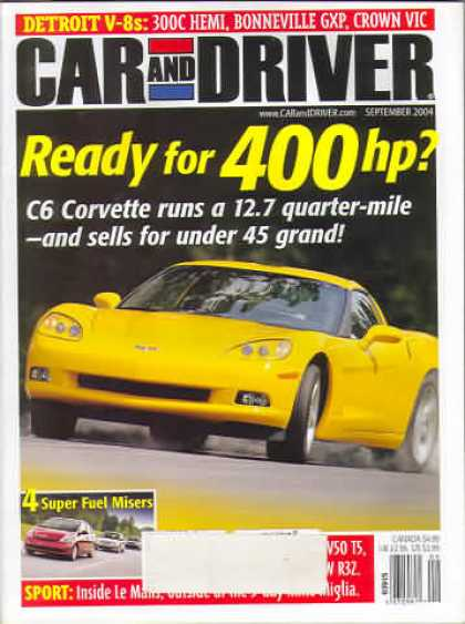 Car and Driver - September 2004