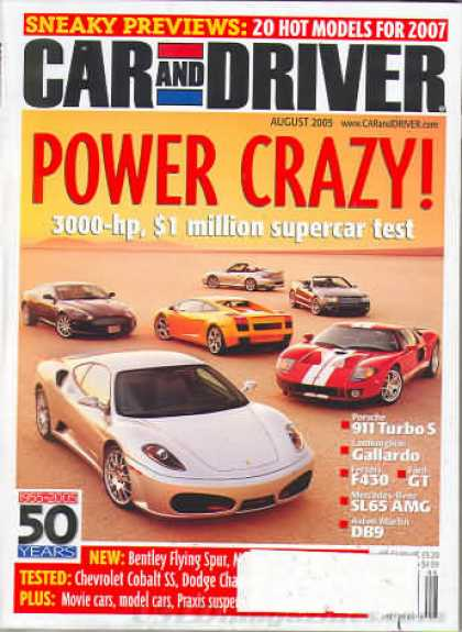 Car and Driver - August 2005