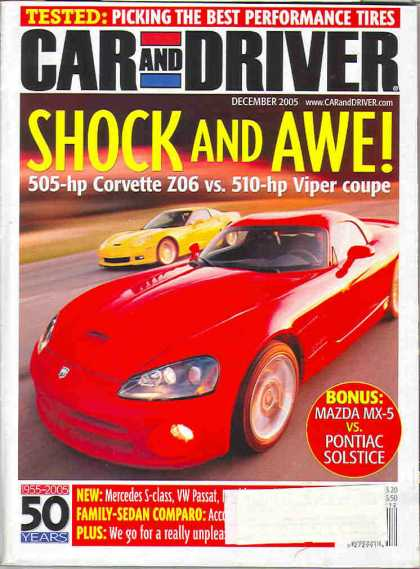 Car and Driver - December 2005